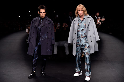 Zoolander 2 was announced at Valentino runway show during Paris Fashion Week