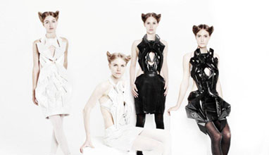 Anouk Wipprecht's 3D Printed Audi A4 Dress Collection Brings Incredible Virtual Reality to Fashion