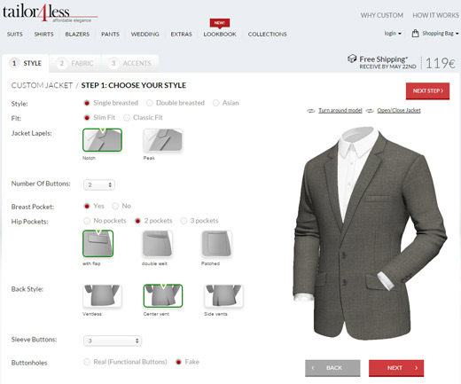 to-measure suits online from Tailor4less