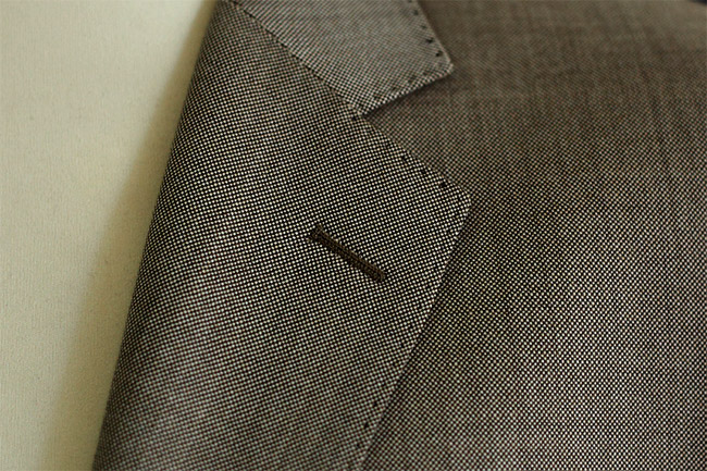 AMF Stitching on men's suits