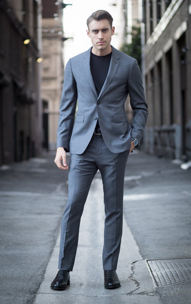 Ashley Weston presents: the Grey Notch Lapel Suit as an essential for the men's wardrobe
