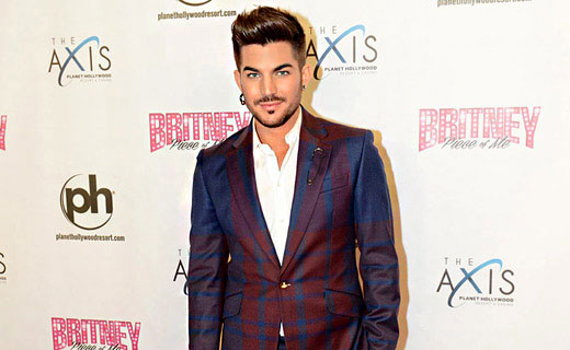Fashion icon Adam Lambert dressed in suits