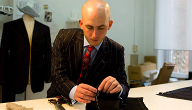 Quality bespoke men's suits by Belgian tailor Aravinda Rodenburg