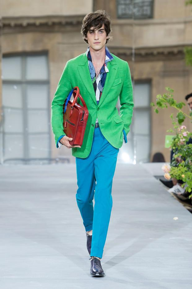 Explosion of colourful suits from Berluti Spring/Summer 2016