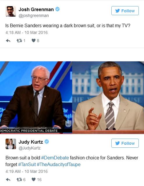 Bernie Sanders' suit color - why it matters?