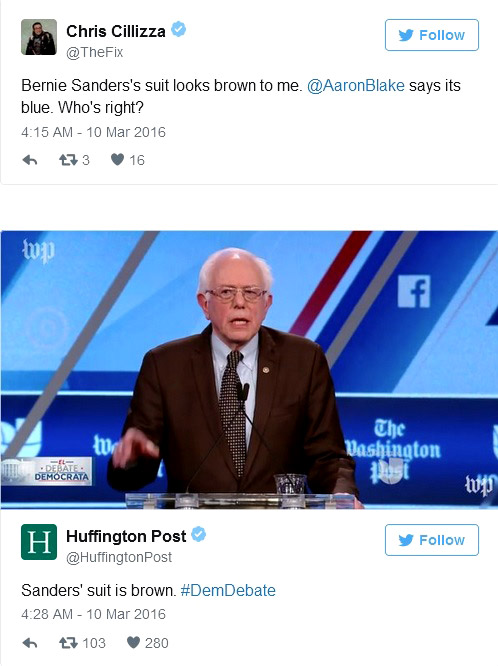 Bernie Sanders' suit color - why it matters?