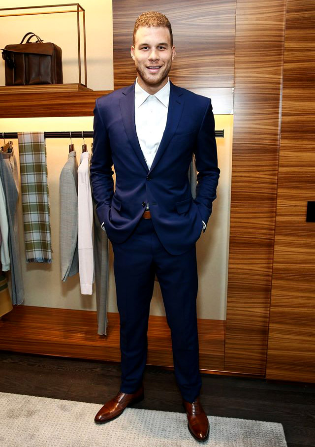 Ermenegildo Zegna and Blake Griffin with a made-to-measure suiting event