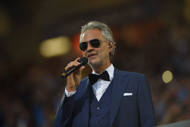 Celebrities' style: Andrea Bocelli
