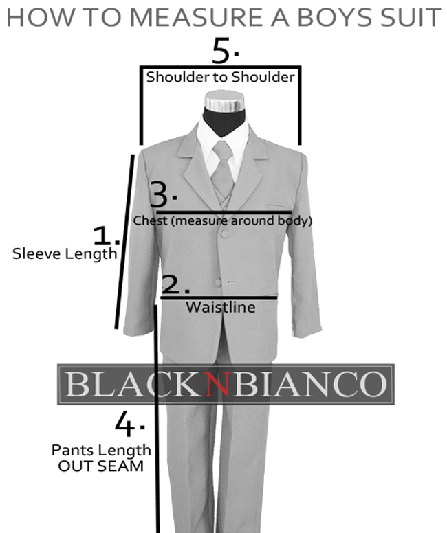 How to take the measurements for boys' made-to-measure suit by Black and Bianco