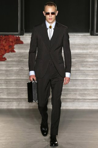 Justin O'Shea presented his first collection for the Brioni brand
