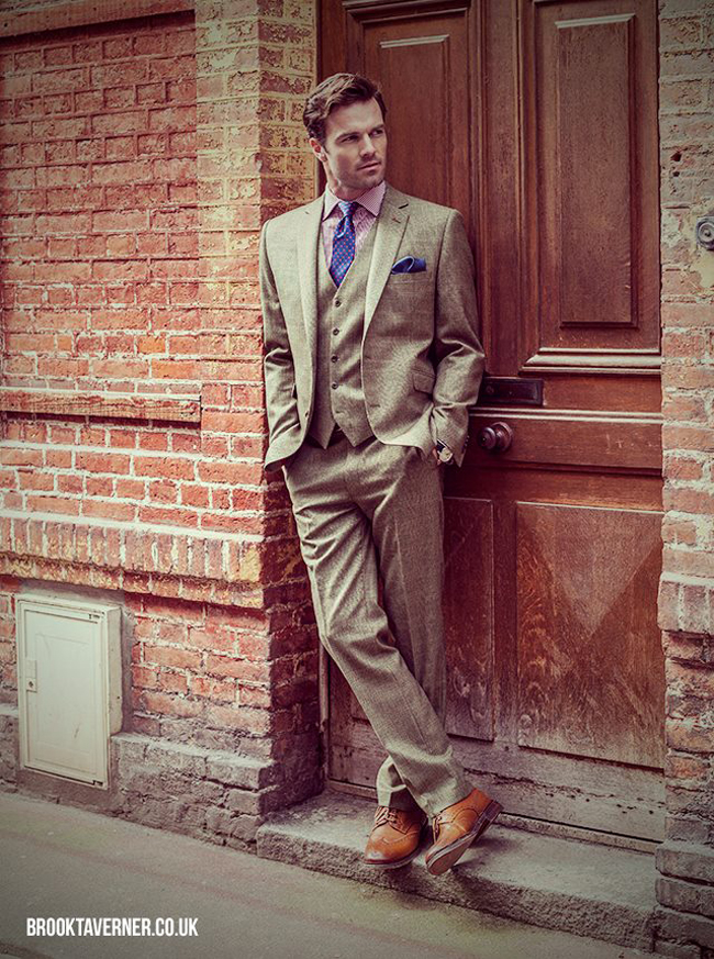 English tailor-made suits by Brook Taverner