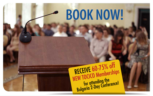 TOCICO 2-Day Workshops Conference in Bulgaria