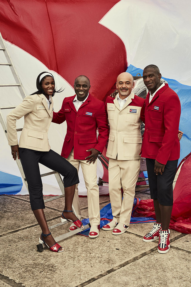 Christian Louboutin at the Rio Olympics