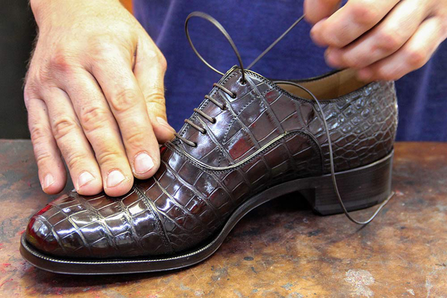 The life of a Homme shoe at Christian Louboutin's factory in Naples