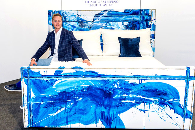 Stylish artist and businessman Conor Mccreedy presents 'Blue Heaven'