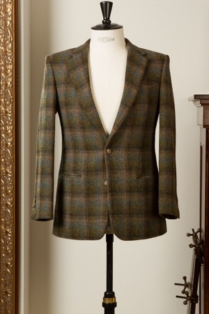 2-Button Tweed Sportsjacket With Welt Pockets And Golden Paisley Lining