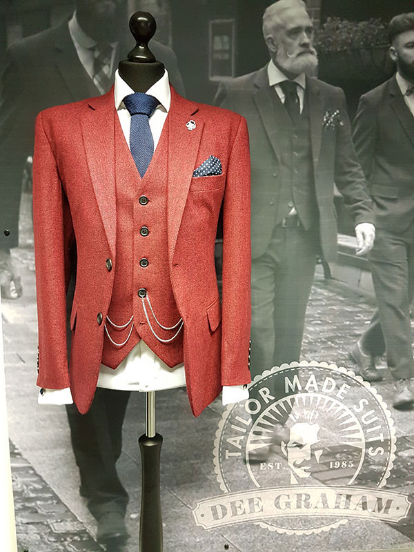 Irish custom tailored suits by Dee Graham
