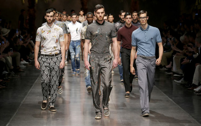 Sicilian Chinoiserie and Sartorial Denim in Dolce & Gabbana Spring-Summer 2016 Men's collection