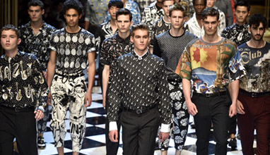 Celebrity kids on the runway for Dolce & Gabbana Spring-Summer 2017 men's show