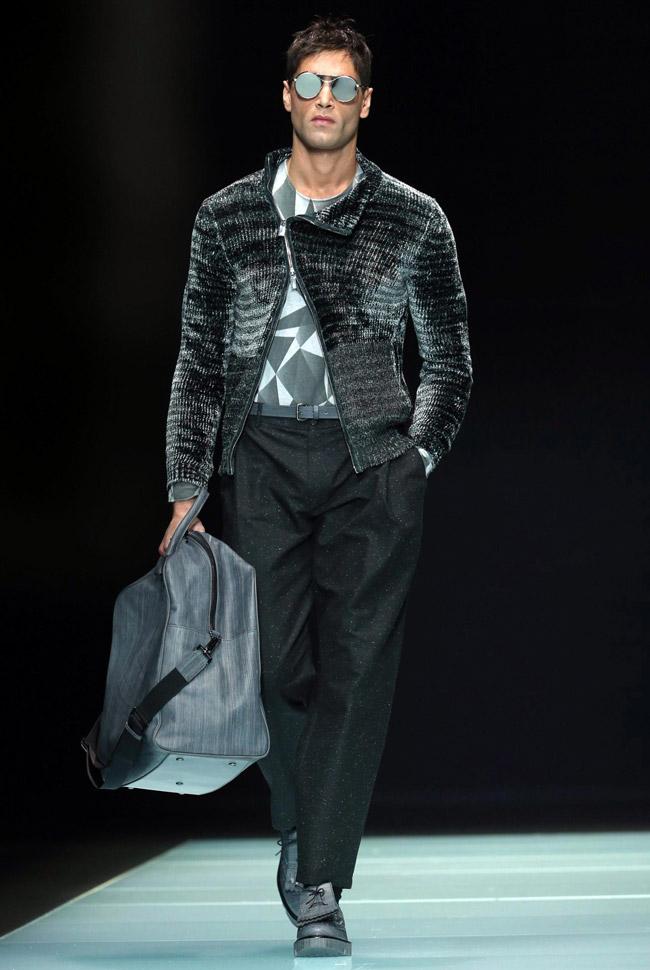 Milan Men's Fashion Week: Emporio Armani Fall-Winter 2016 ...