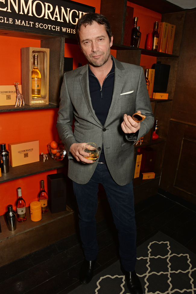 Celebrities at launch of world's first scotch whisky (sun) glasses