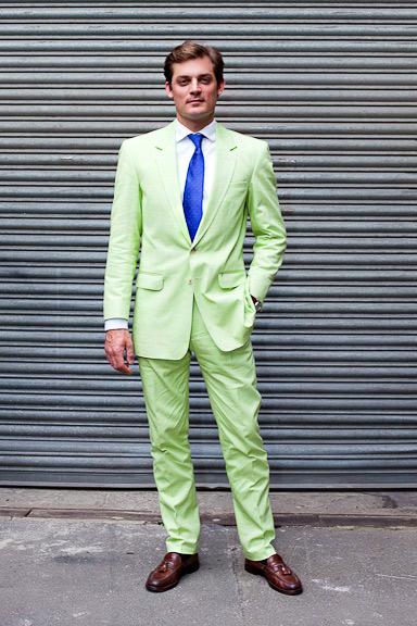 Green Men's Suit