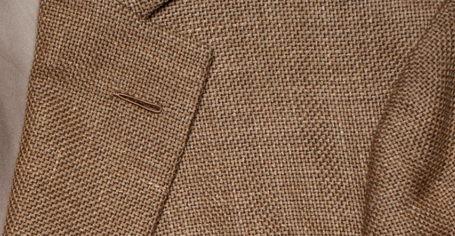 Spring/Summer Menswear - a Hopsack fabric