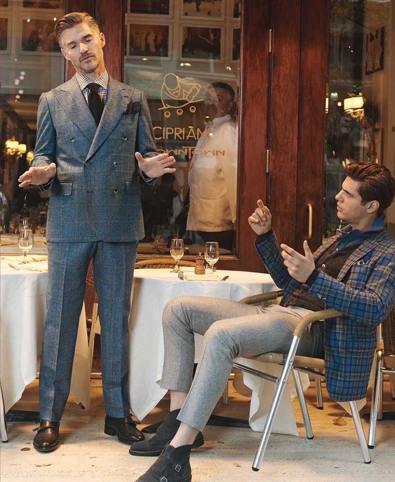 Coral Herringbone - ISAIA Napoli Fall-Winter 2016/2017 collection