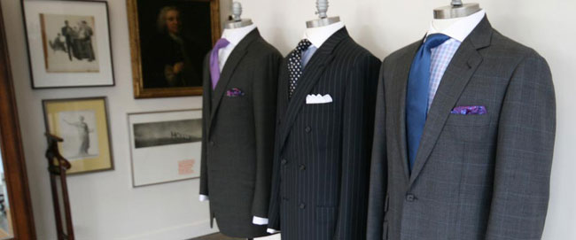 Bespoke suits by Jonathan Behr