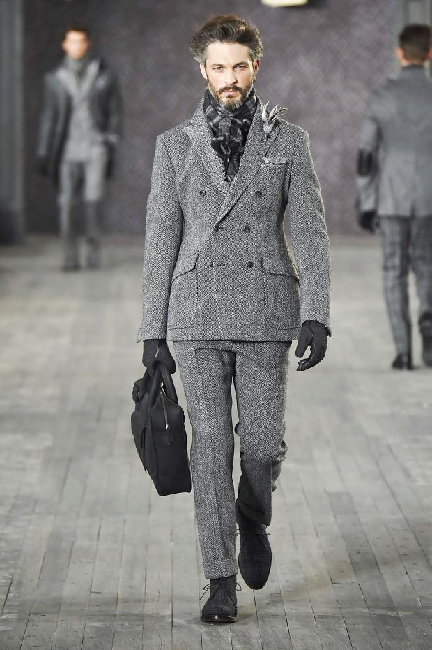 Joseph Abboud Autumn/Winter 2016 - the suit from tweed