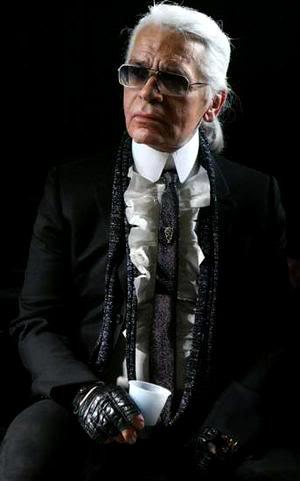 Dandies through the centuries: Karl Lagerfeld
