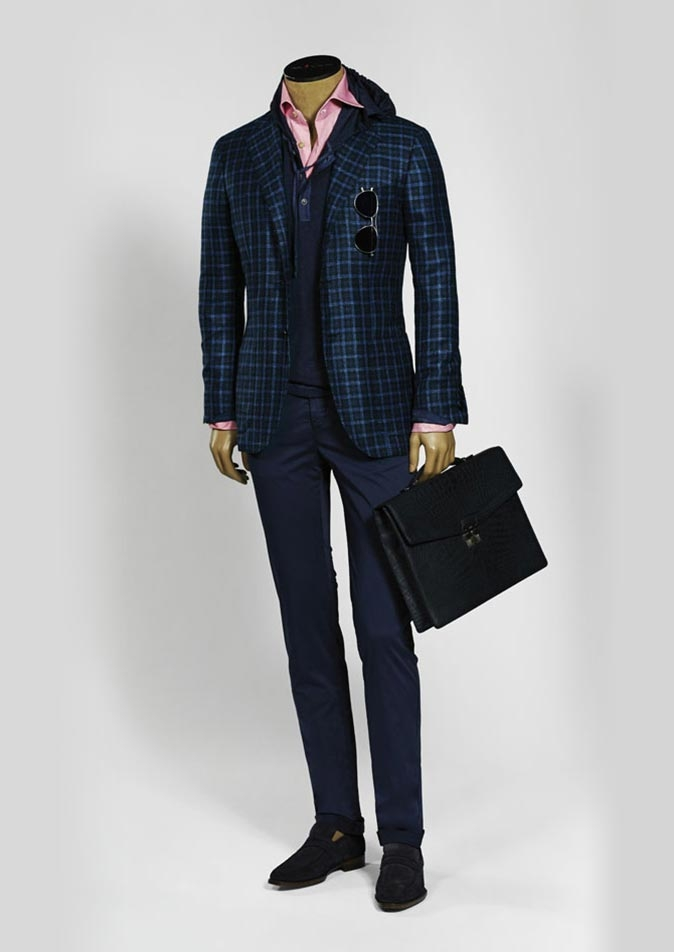 Spring-Summer 2016 men's suits and sportswear collection by Kiton