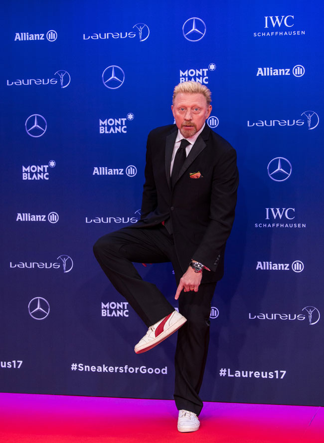 Sports celebrities and influencers push the pedals for Laureus