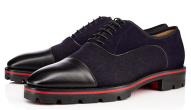 Christian Louboutin presents his new lug soles