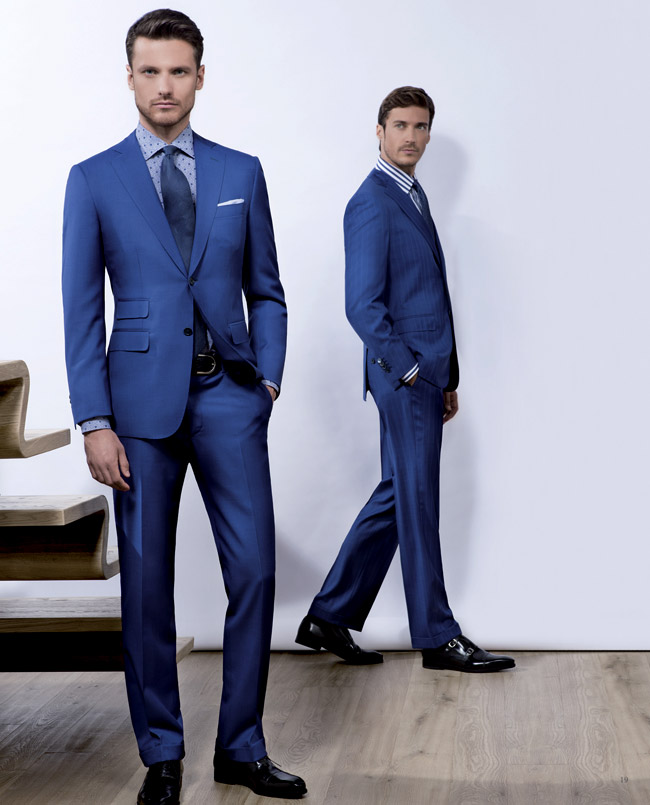 suits 2016 fashion trends: Blue suits