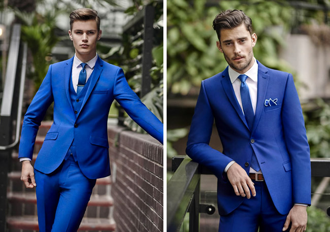 men's suits by Moss Bros