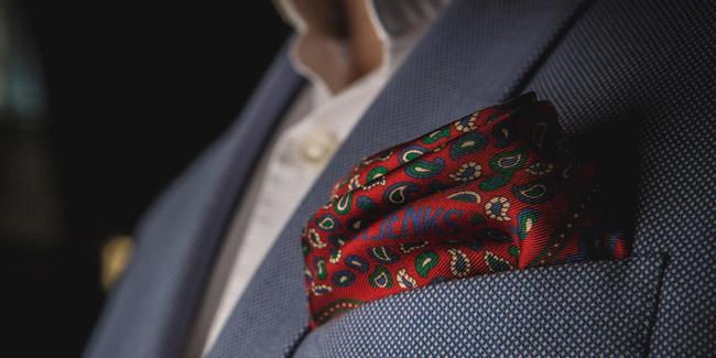 Italian Twill Silk and Irish Linen Pocket Squares by Mr. Jenks Dublin