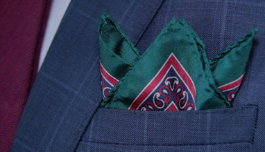 Italian Twill Silk and Irish Linen Pocket Squares by Mr. Jenks Dublin