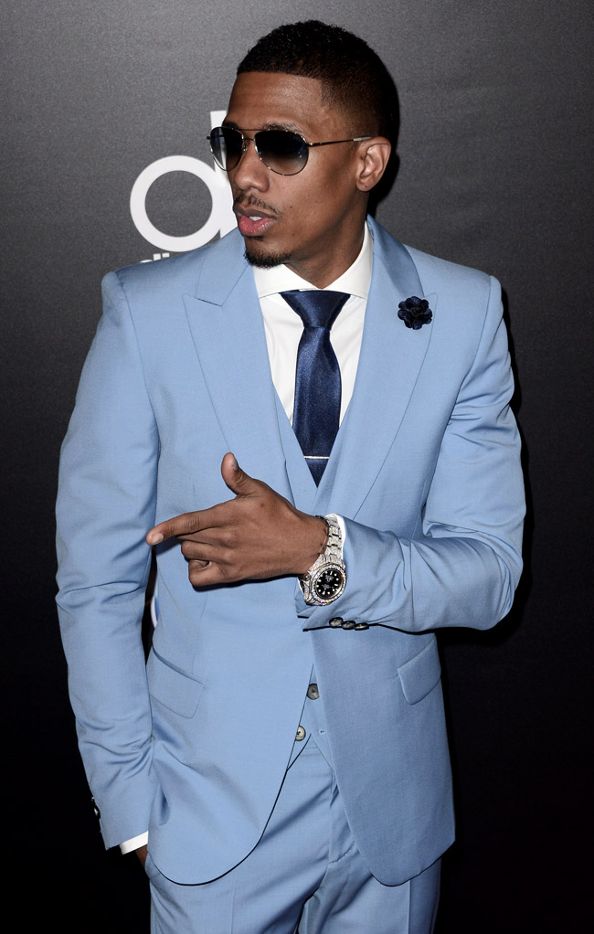 Bright colors and stylish outfits by Nick Cannon
