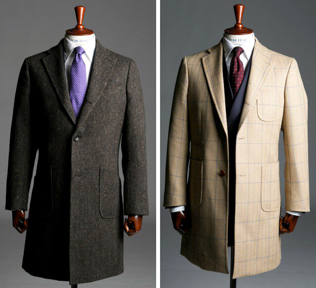 Made-to-measure suits, shirts and overcoats by Oscar Hunt
