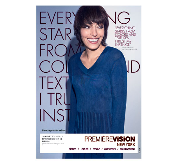 New brand ambassador of Premiere Vision New York: Nellie Partow, fashion designer and CFDA member
