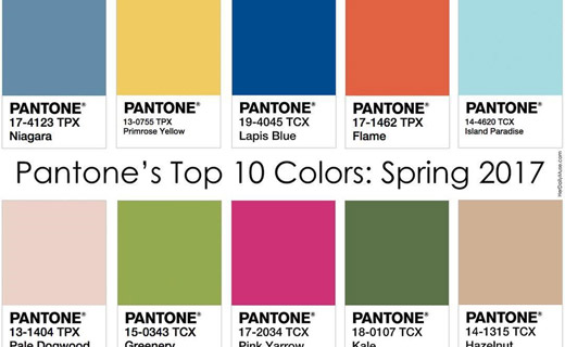 spring summer 2017 fashion trends top 10 key colors