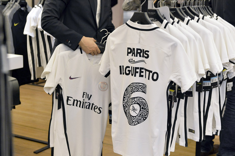 Paris Saint-Germain unveils its 2016/2017 'Third Jersey' at le Bon Marché Rive Gauche