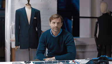 Patrick Grant has created a suit infused with the latest technology
