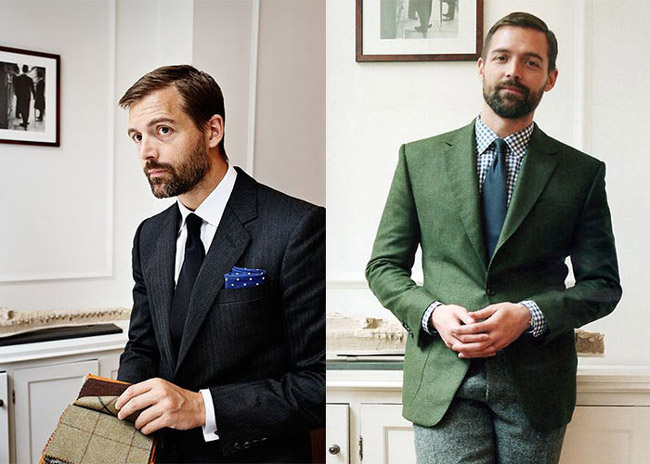 Patrick Grant - the creative director of bespoke tailors Norton & Sons of Savile Row