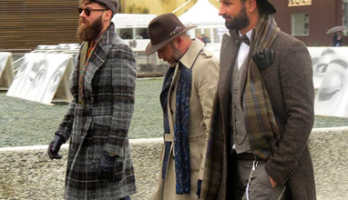 Pitti Uomo 89 - A spectacular Fashion-Art composite, or How the elegant man feels like a cathedral