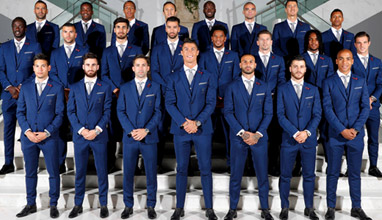 Portuguese football team in tailor made suits by Dielmar for UEFA Euro 2016