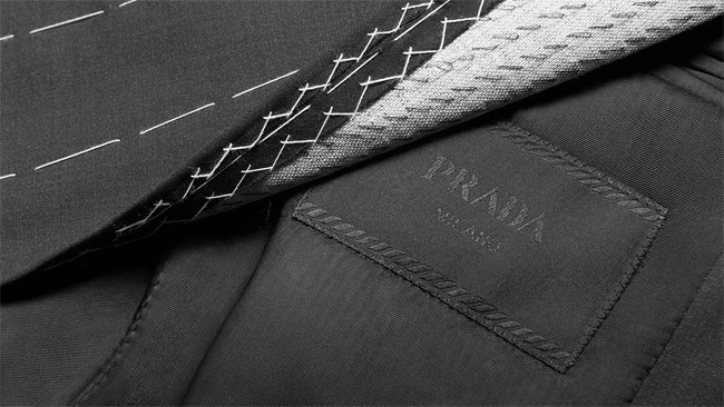 Made-to-measure suits by Prada