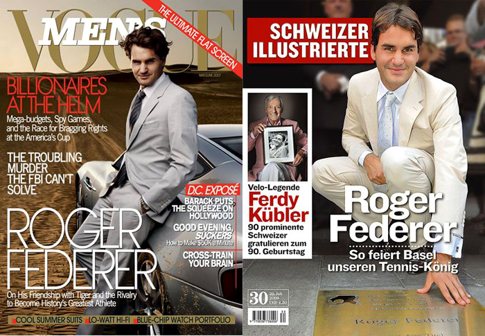 Celebrities' style: Roger Federer stylish at the age of 36