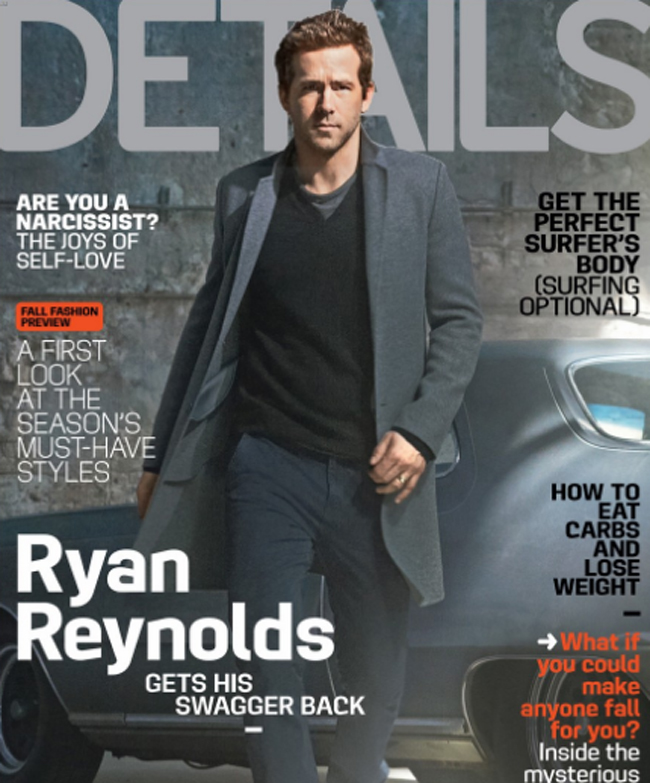 Ryan Reynolds - one of the most stylish actors in Hollywood